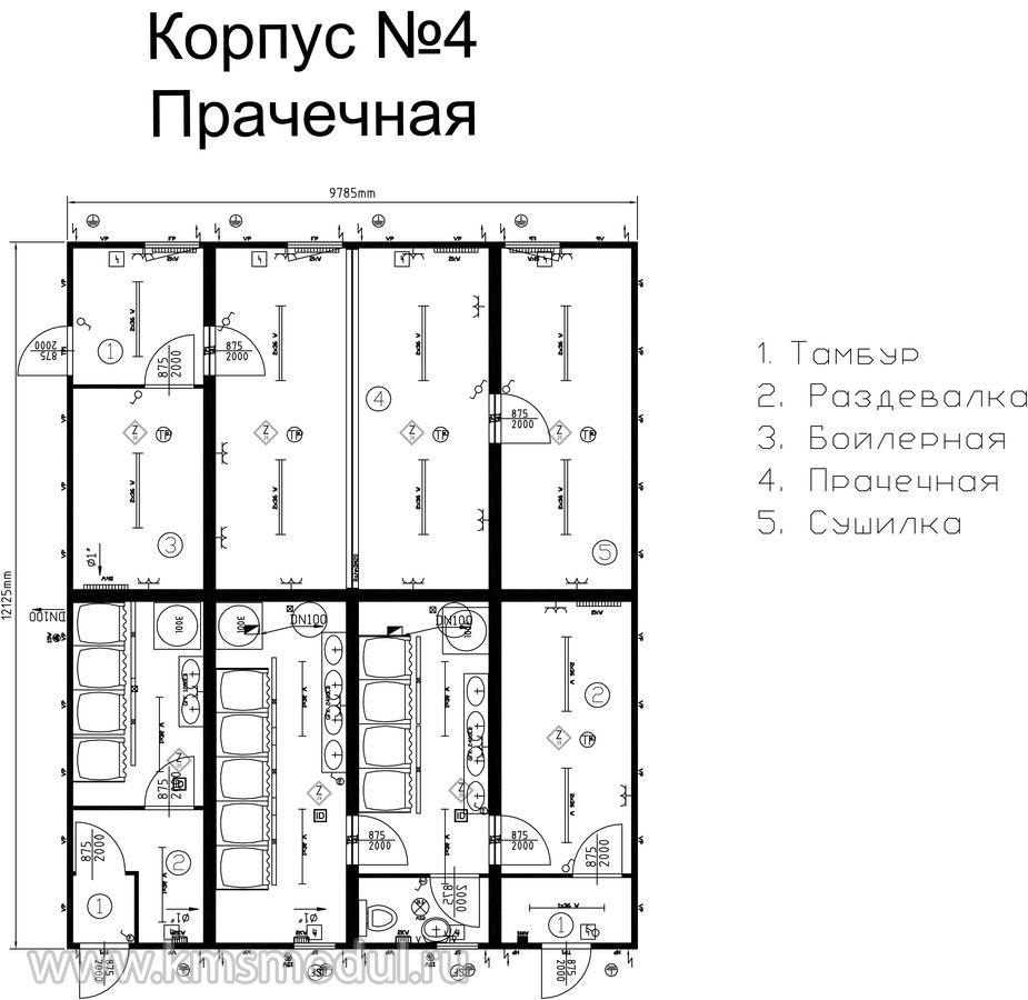 Схема вахтовых поселков